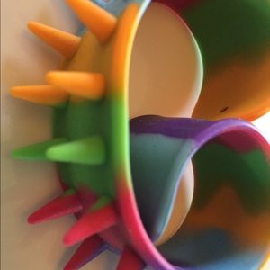 Other - Child's rubber spike bracelet